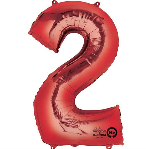 Number Balloon - 2 - Red