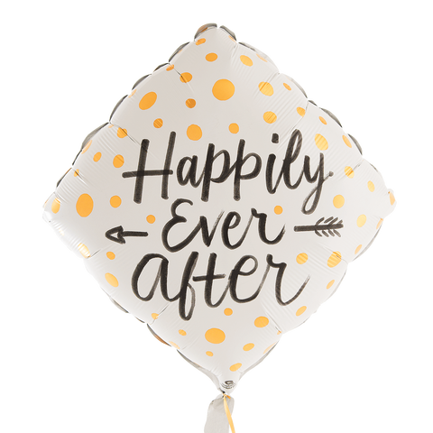 Gold Dots Happily Ever After Balloon