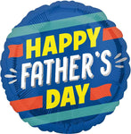 Striped Father's Day Balloon
