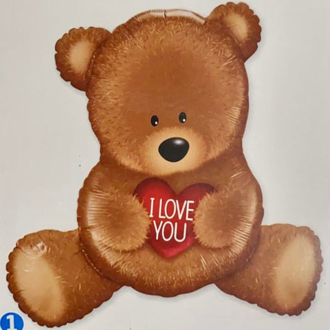 Teddy I Love You Supershape Balloon