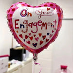 On Your Engagement Heart Balloon