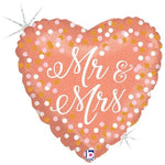 Rose Gold Mr. & Mrs. Balloon