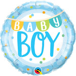 Baby Boy Banner & Dots Balloon