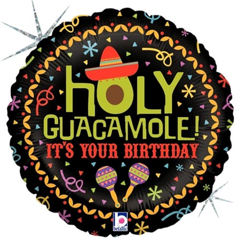 Holy Guacamole Birthday Balloon