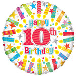 10 Birthday Candles Balloon