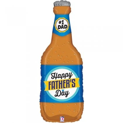 Fathers Day Beer Bottle SuperShape Balloon