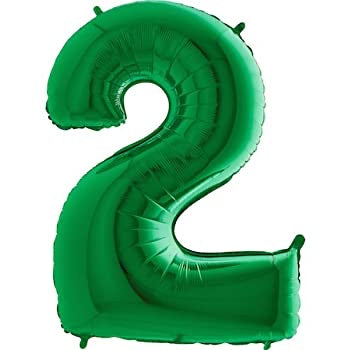 Number Balloon - 2 - Green