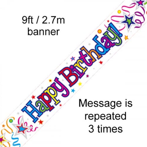 Multi Colour Happy Birthday Banner