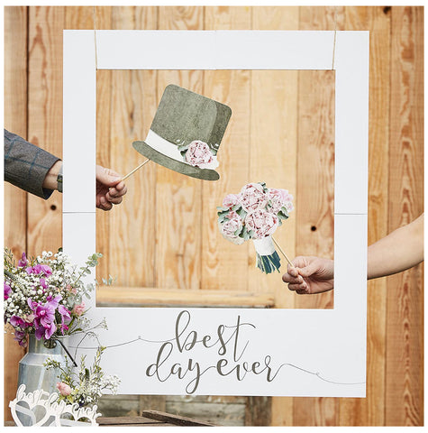 Best Day Ever Giant Wedding Polaroid Photo Frame