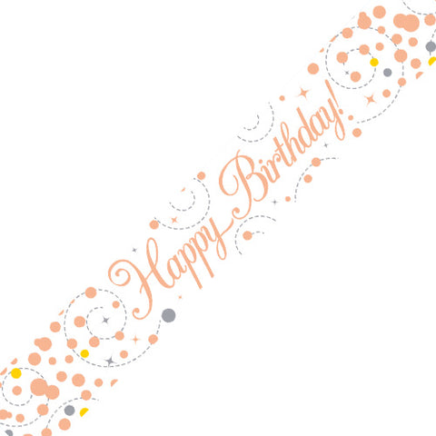 Birthday Banner - Rose Gold
