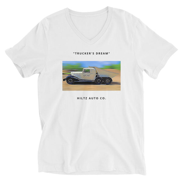 v-neck t-shirt // trucker's dream
