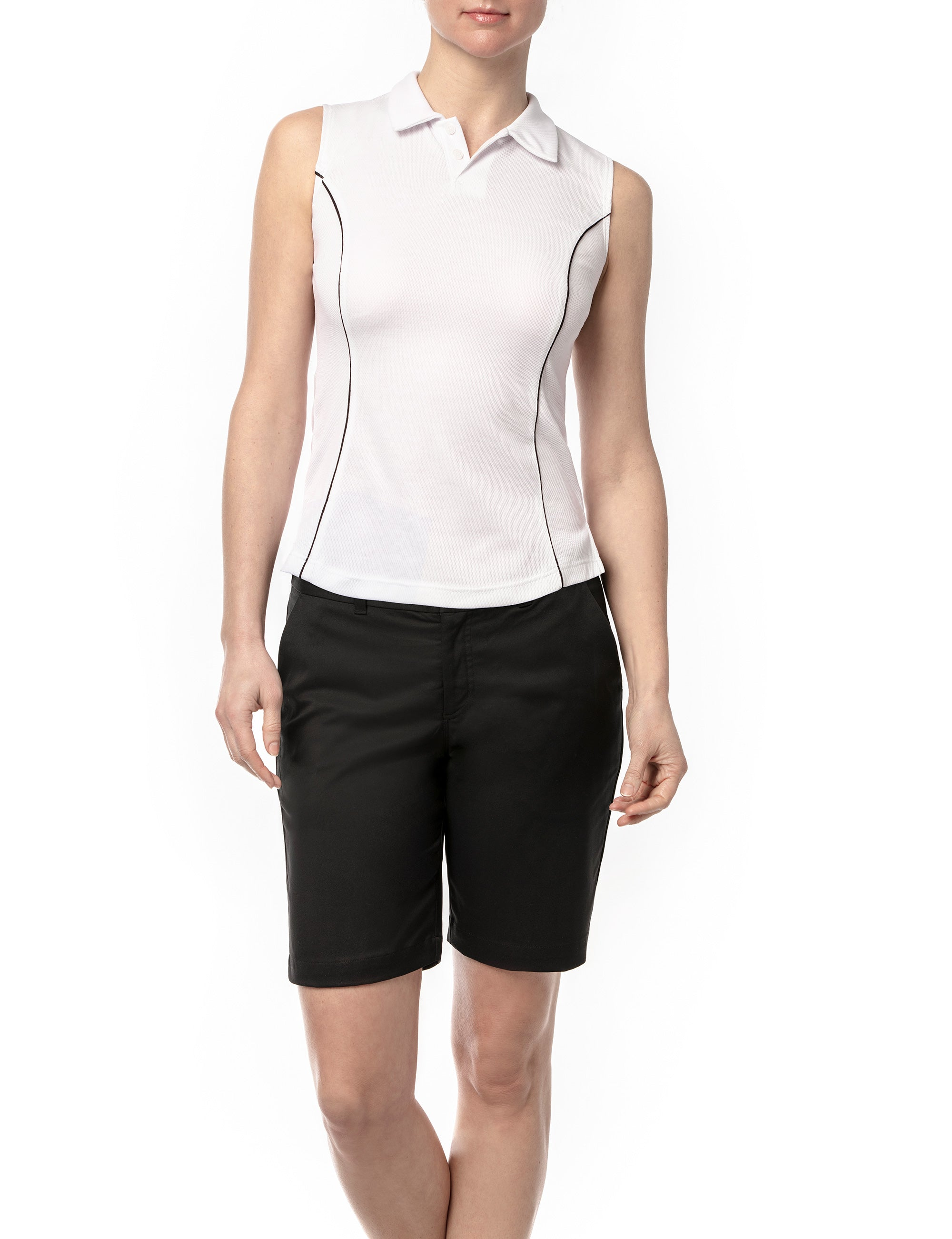 Zephyr Sleeveless Polo With Black Detail