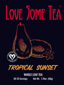 love some tea tropical sunset