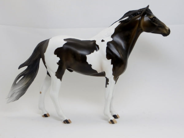 INTERSTELLAR - Dapple Bay Paint Mustang Model Horse - LE15 - 2/15