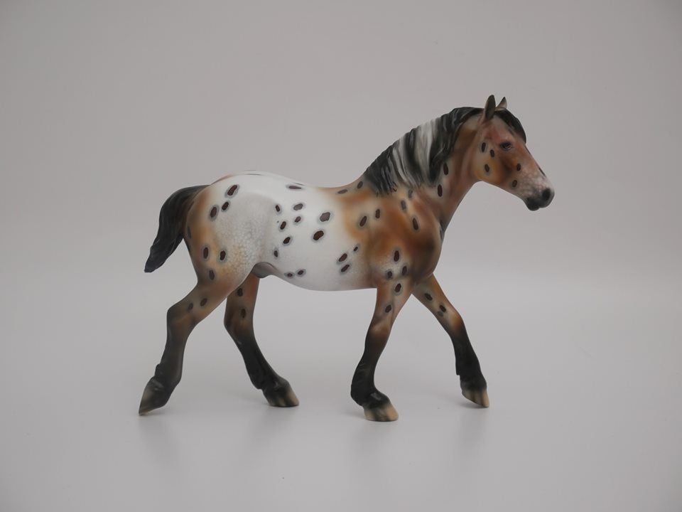 LITTLE BEN-LE-30 APPALOOSA PEBBLES DRAFT MODEL HORSE 7/2/20