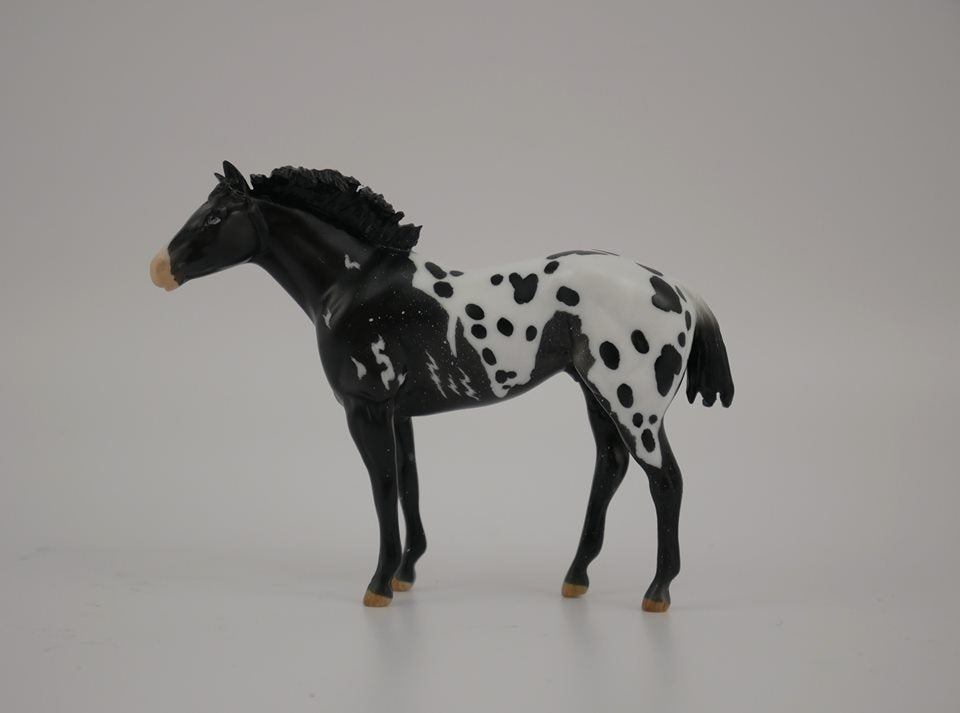 BUMI-LE-? STOCK HORSE CHIP APPALOOSA MODEL HORSE 7/17/20