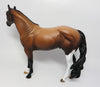 SHINING STAR-OOAK RED ROAN ISH MODEL HORSE 4/18