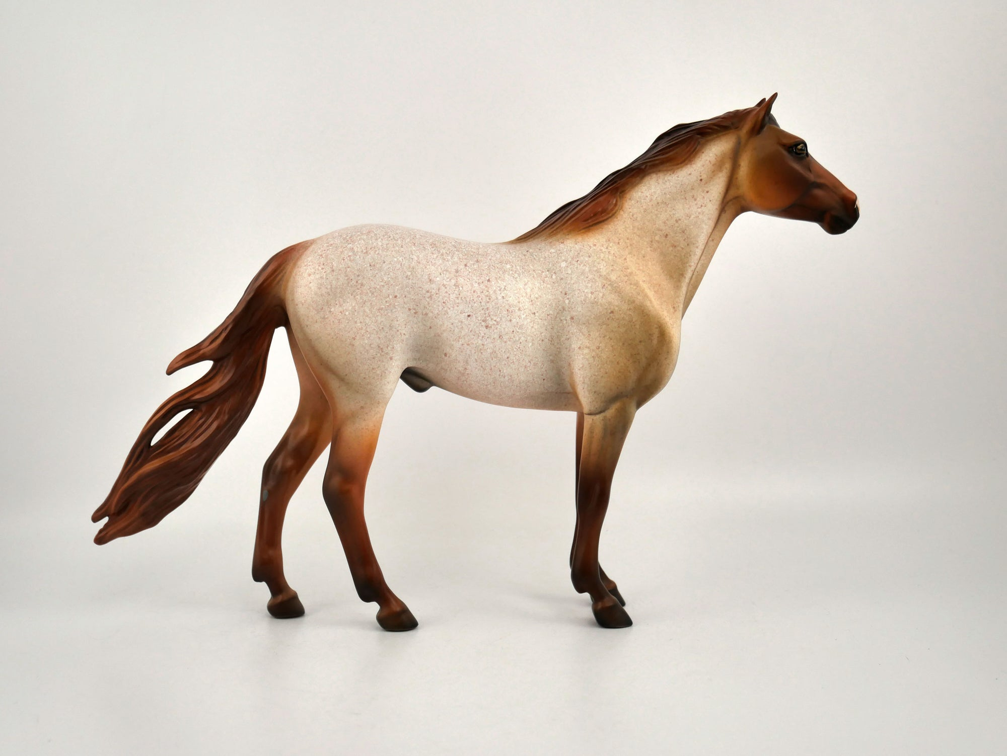 Jasper-OOAK Red Roan Mustang Painted by Dawn Quick