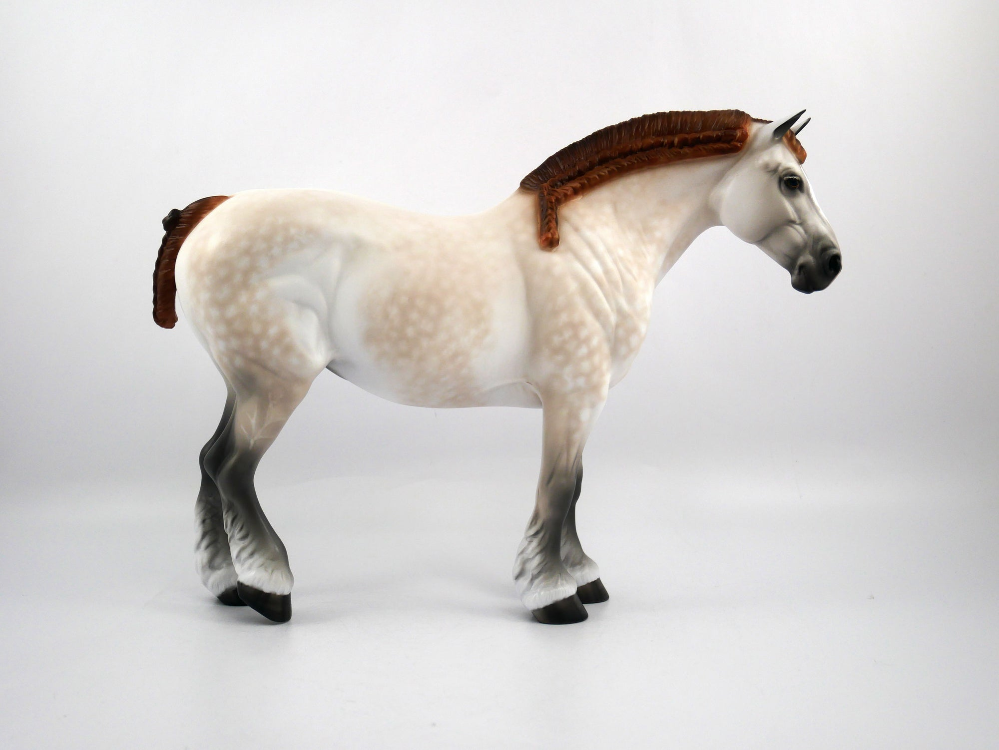 Joanie-OOAK Mulberry Grey Heavy Draft Mare Painted by Sheryl Leisure 1/20