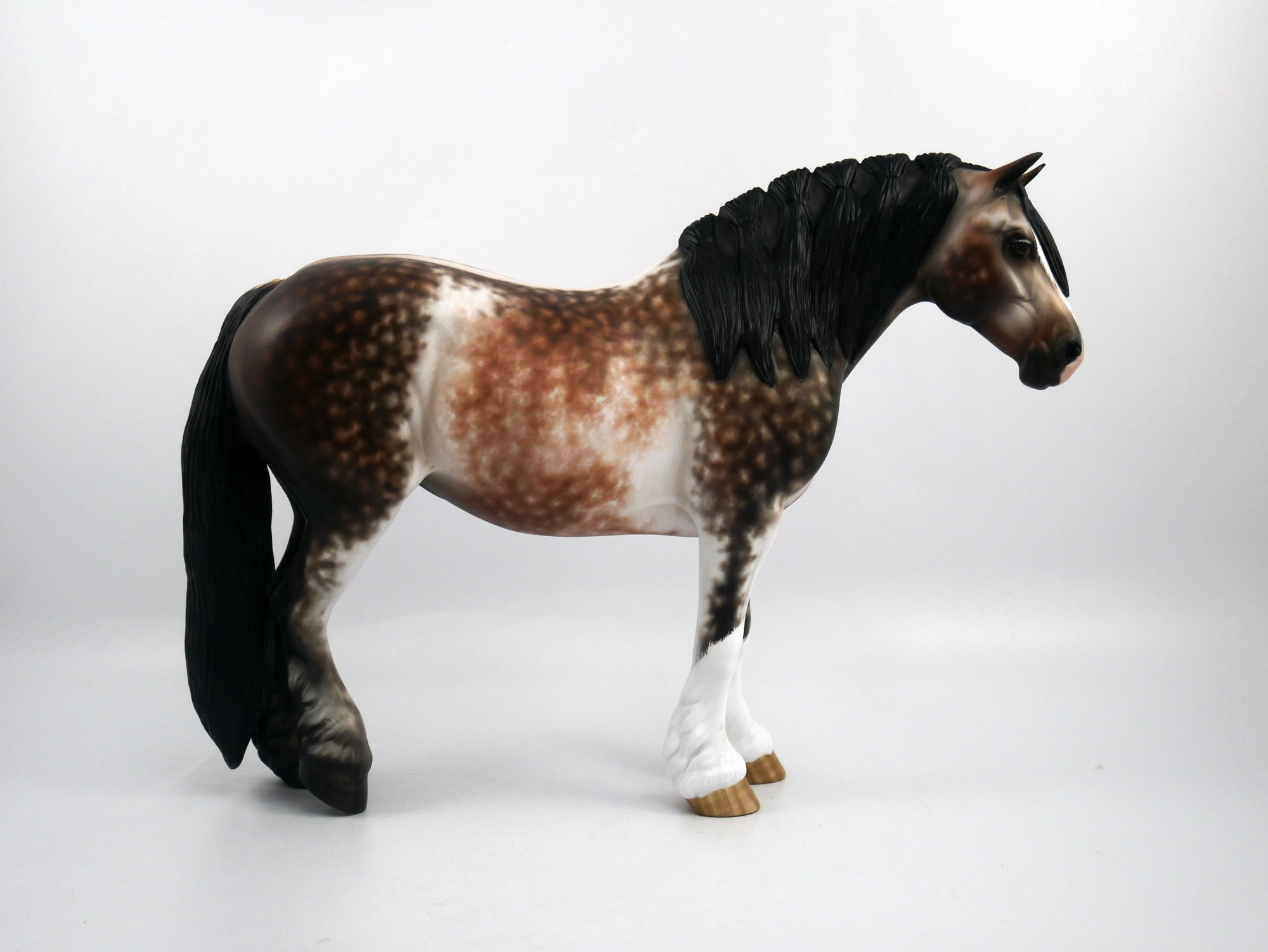 Marion-OOAK Bay Going Grey Heavy Draft Mare Painted by Sheryl Leisure 1/20