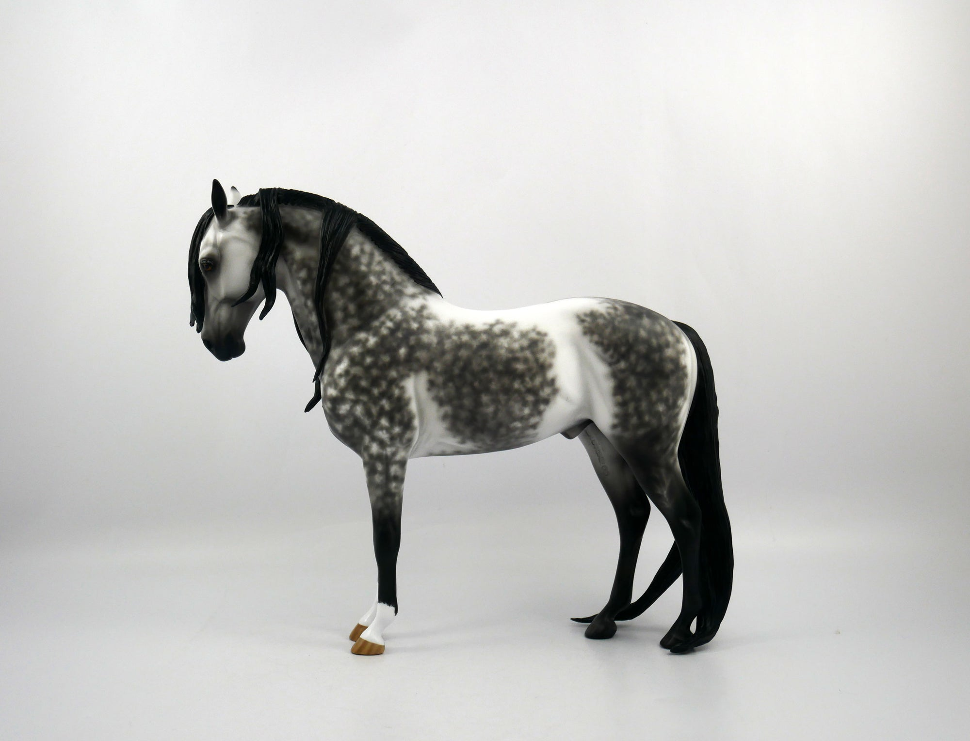 Mr. C-OOAK Dapple Grey Andalusian  Painted by Sheryl Leisure 1/20