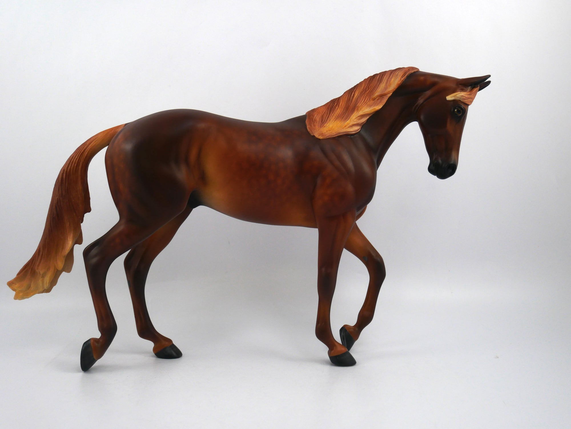 Ralph the Mouth-OOAK Dapple Chestnut Thoroughbred Painted by Sheryl Leisure 1/20