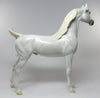 ABBAN-LE-5 DAPPLE WHITE ARABIAN UNICORN EQ 2016 MODEL HORSE 7/27