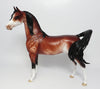 AMERICAN ICON~OOAK BAY SABINO ARABIAN MODEL HORSE BY SHERYL LEISURE EQ 2017