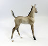 CLEATS-OOAK DUN ARABIAN FOAL BY SHERYL LEISURE  2/5/17