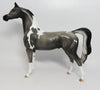 COCKTAIL-OOAK PAINT GREY ARABIAN MODEL HORSE 5/1