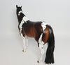 GETTING JIGGY WITH IT~OOAK DAPPLE BAY PAINT ISH MODEL HORSE BY DAWN QUICK 4/24