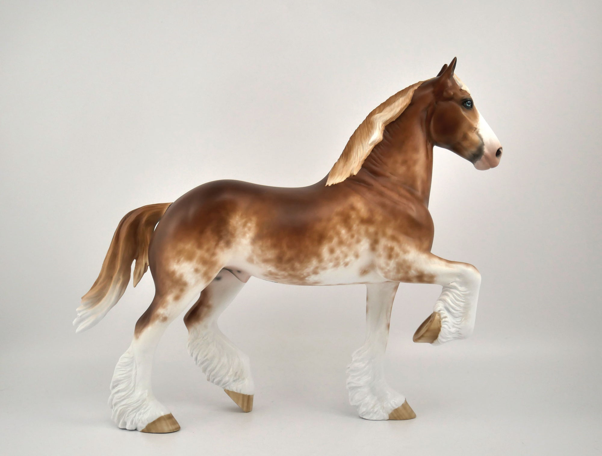 Gustave-OOAK Chestnut Sabino Trotting Draft By Sheryl Leisure