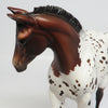 CHOCOLATE SPECS~OOAK BAY LOUD APPALOOSA WEANLING MODEL 4/27