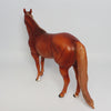CHEETOS~OOAK CHESTNUT ROAN ISH MODEL HORSE 4/28