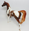 SON OF SAM-OOAK CHESNUT PINTO ARABIAN MODEL HORSE 4/28