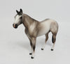 JIMMY CHOO-OOAK DAPPLE GREY QUARTER HORSE CHIPS MODEL HORSE 5/10
