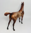 TANK-OOAK DAPPLE CHESTNUT ARABIAN MODEL HORSE 05/16/17