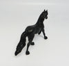 SO SPECIAL-OOAK BLACK FRESIAN CHIP MODEL HORSE 05/12/17