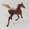 HEAT WAVE - OOAK CHESTNUT APPALOOSA YEARLING MODEL HORSE - 10/2