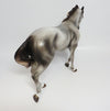 AUDIO SLAVE~OOAK DAPPLE GREY PINNED EAR THOROUGHBRED MODEL HORSE 5/19/17