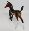 ANASTASIA-OOAK SEAL BAY PAINT ARABIAN FOAL MODEL HORSE BY DAWN QUICK 5/26/17