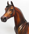 BRONZED BEAUTY-OOAK DAPPLED BAY ARABIAN MODEL HORSE BY DAWN QUICK 05/26/17