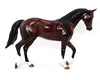 CRIMSON TIDES - OOAK DAPPLED BAY THOROUGHBRED MODEL HORSE - 10/9