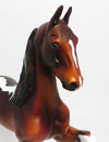 RED VELVET~LE-3 DAPPLE BLACK PINTO SADDLEBRED MODEL HORSE 5/26/17