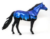 GRAVE DIGGER 9 - OOAK SPANISH MUSTANG MODEL HORSE - BLUE HALLOWEEN DECORATOR - 10/7