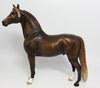 GAWAIN-OOAK DAPPLED LIVER CHESTNUT MORGAN MODEL HORSE 05/31/17
