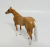 GAHERIS-OOAK DAPPLED DARK PALOMINO QUARTER HORSE CHIP MODEL HORSE BY SHERYL LEISURE 05/31/17