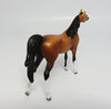 ALFIE-OOAK DAPPLED GOLDEN BAY ARABIAN CHIPS MODEL HORSE 06/07/17