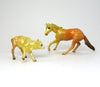 UNUS - OOAK CANDY CORN UNICORN CUTTER MODEL HORSE AND CALF - 10/16