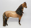 JETT-OOAK BUCKSKIN ROAN MORGAN MODEL HORSE BY JULIE KEIM 06/09/17